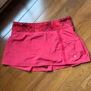 Lululemon Pace Rival Skirt   Magenta